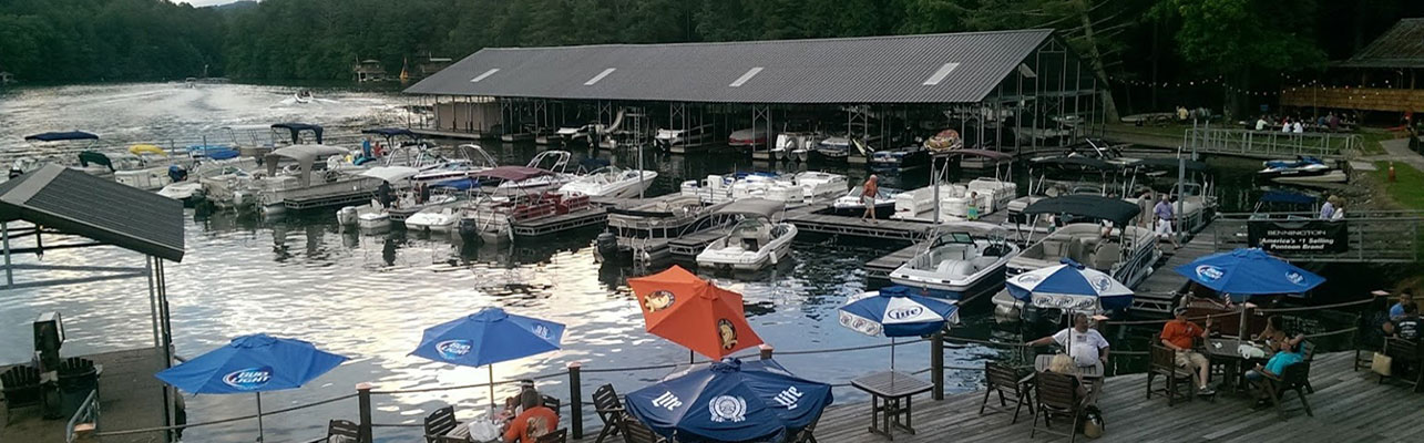 Lake Burton LaPrade's Marina Deck From Chophouse Header