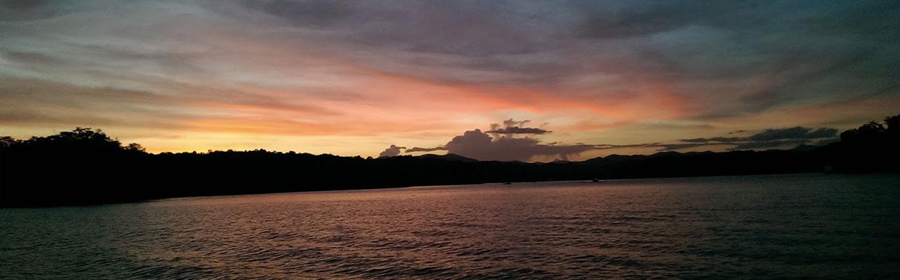 Lake Burton Sunset at LaPrade's Marina
