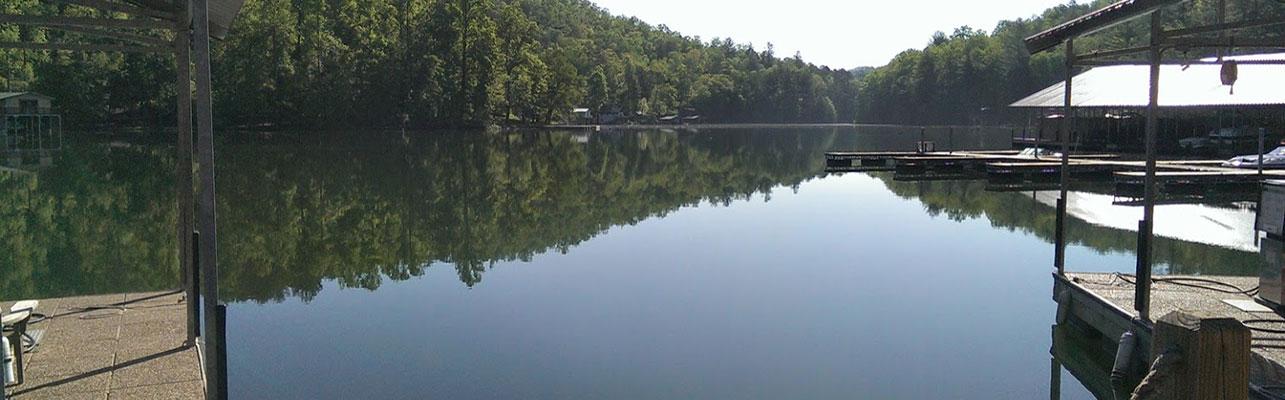 View of Lake Burton from LaPrade's Deck
